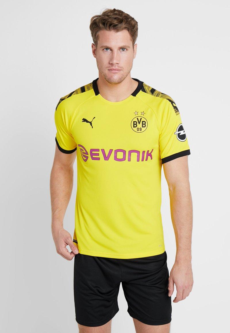 Puma - BVB BORUSSIA DORTMUND HOME AUTHENTIC WITH EVONIK WITH OPEL - Vereinsmannschaften - cyber yellow/black
