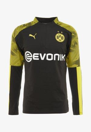 BVB BORUSSIA DORTMUND ZIP TRAINING WITH EVONIK LOGO - Klubové oblečení - black/cyber yellow