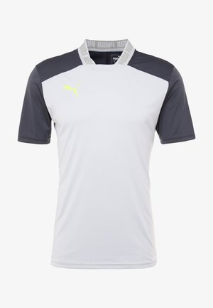PRO TEE - T-shirt con stampa - grey dawn/yellow alert