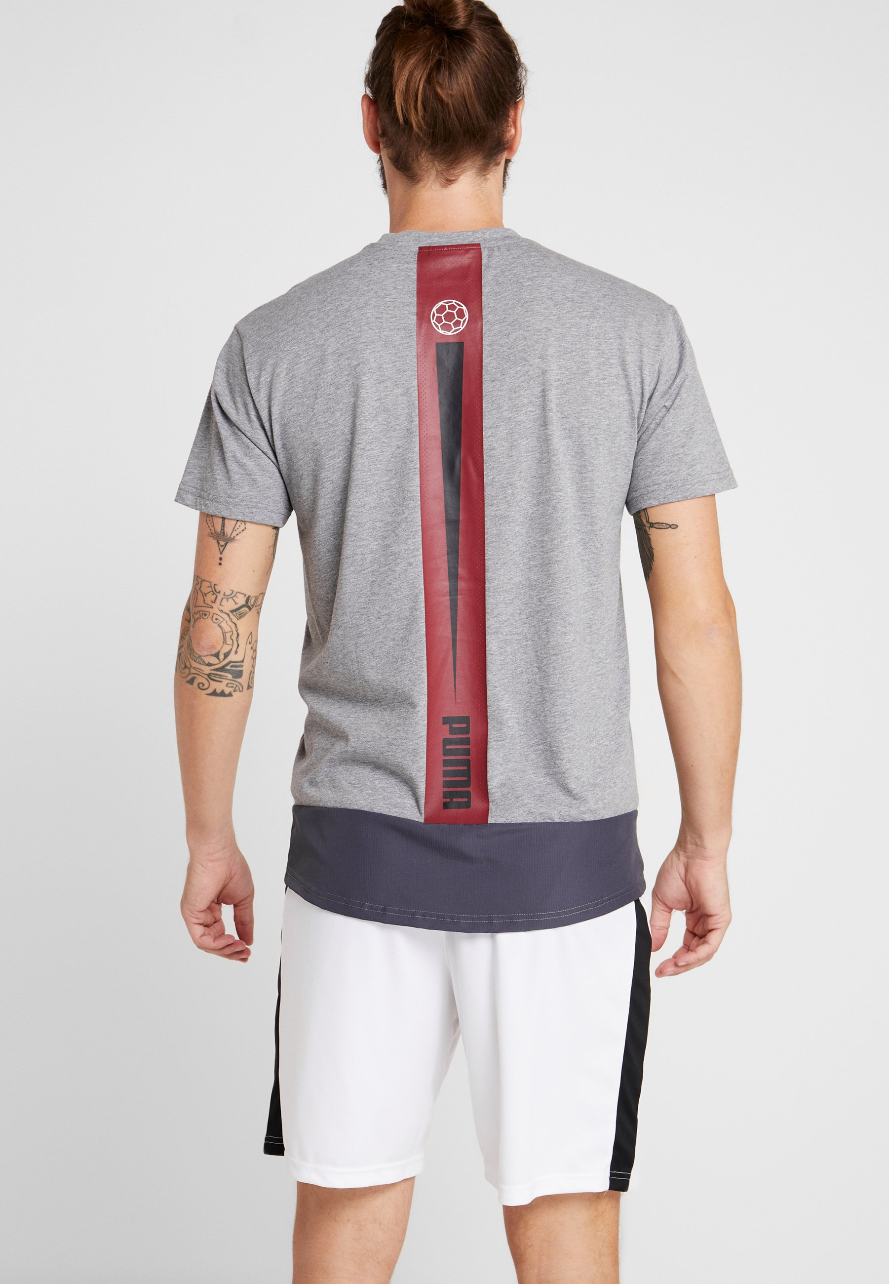 Grey TeeT Dawn shirt ebony Puma Imprimé Casuals qzGUSMpV