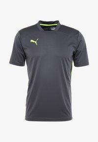 Puma - Camiseta estampada - ebony/yellow alert - 4