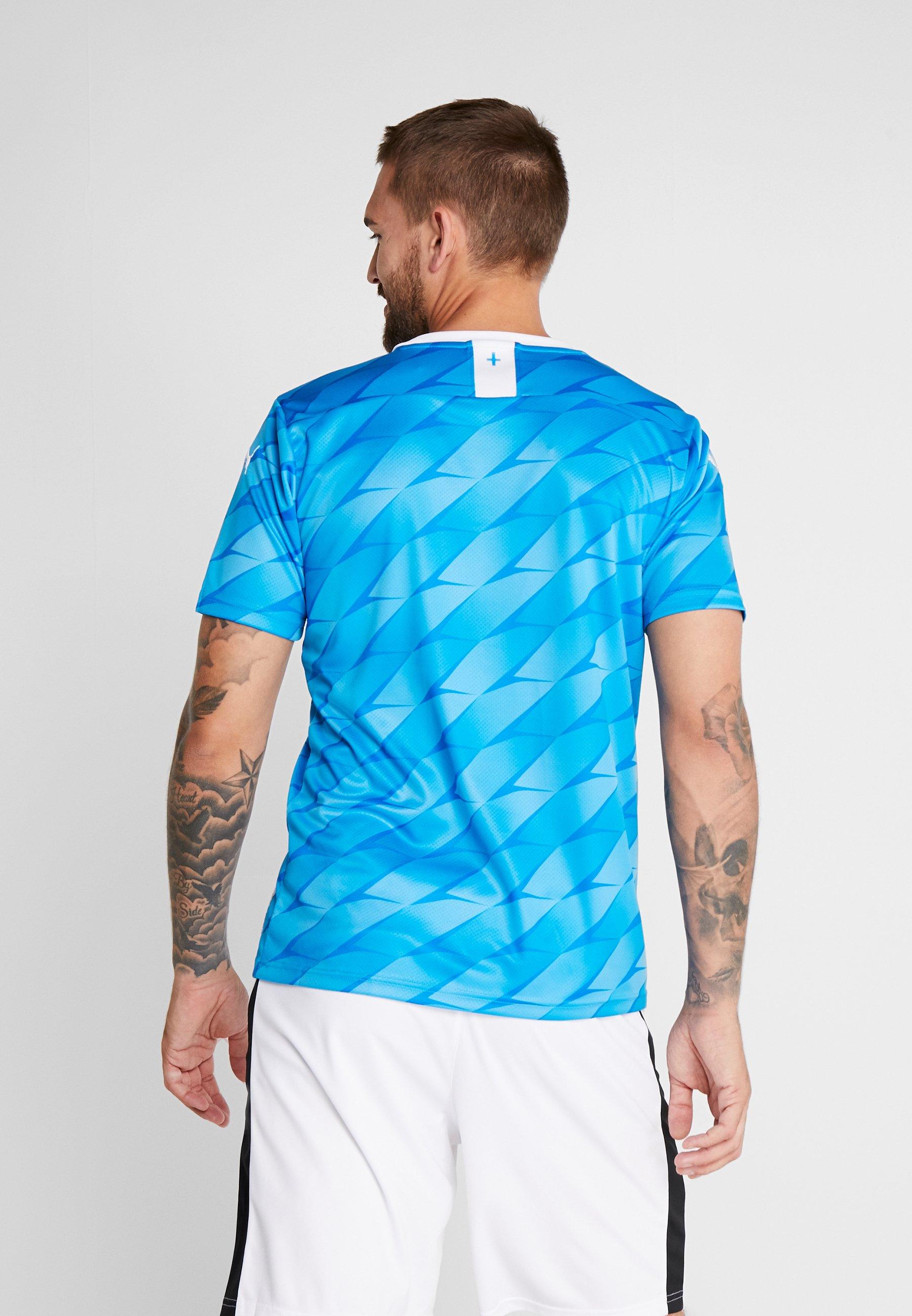 Olympique Away Marseille With SponsorArticle Supporter Bleu Azur Puma puma White De ARL5q34j