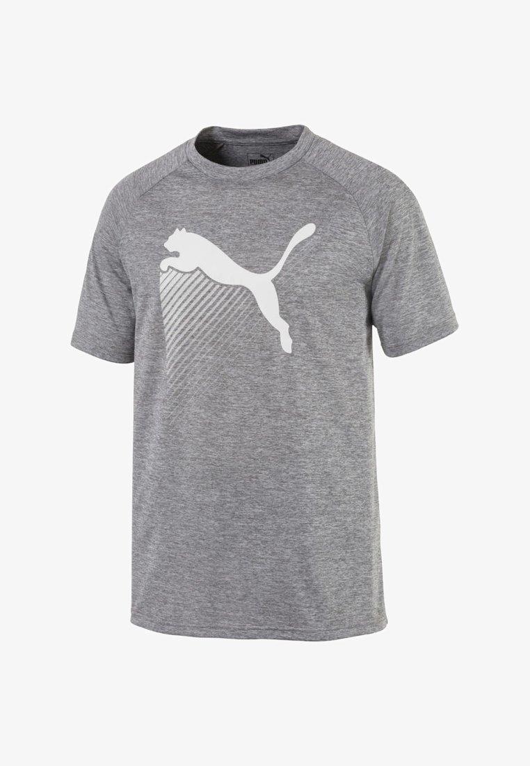 Puma - THE CAT HEATHER TEE - T-Shirt print - grey