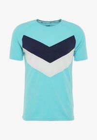 Puma - REACTIVE COLOR BLOCK TEE - Camiseta estampada - blue turquoise - 5