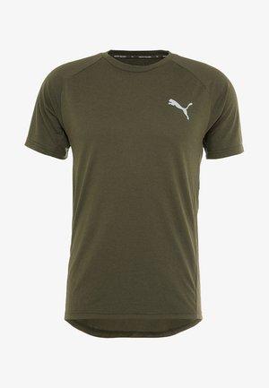 EVOSTRIPE TEE - Camiseta básica - forest night