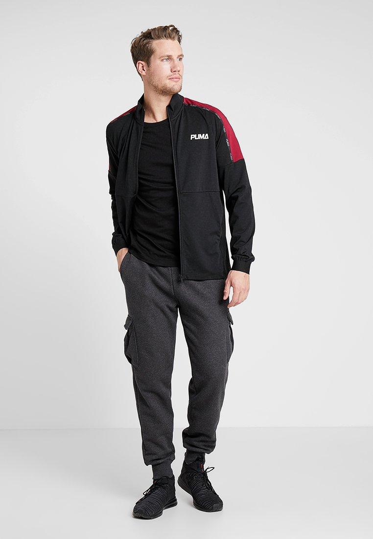 Puma LOGO TEE - Maglietta a manica lunga - black