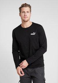 Puma - LOGO TEE - T-shirt à manches longues - black - 0