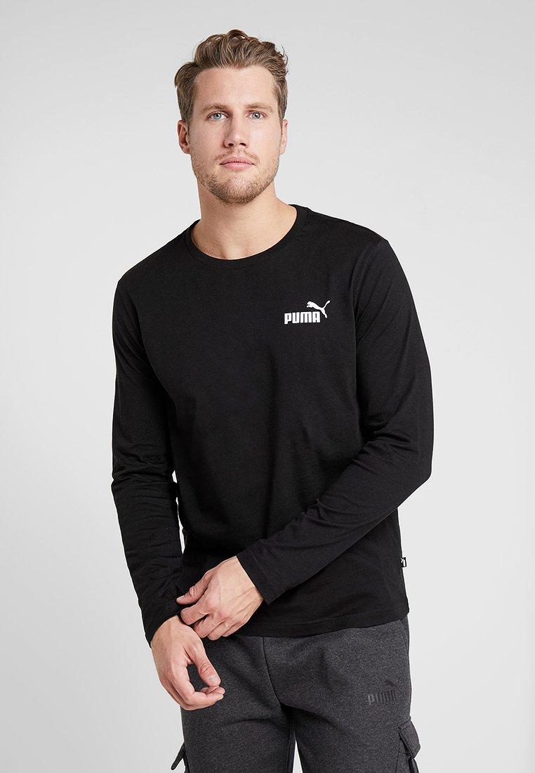 Puma - LOGO TEE - Langærmede T-shirts - black