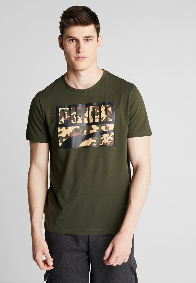 REBEL CAMOFILLED TEE - T-shirt imprimé - forest night