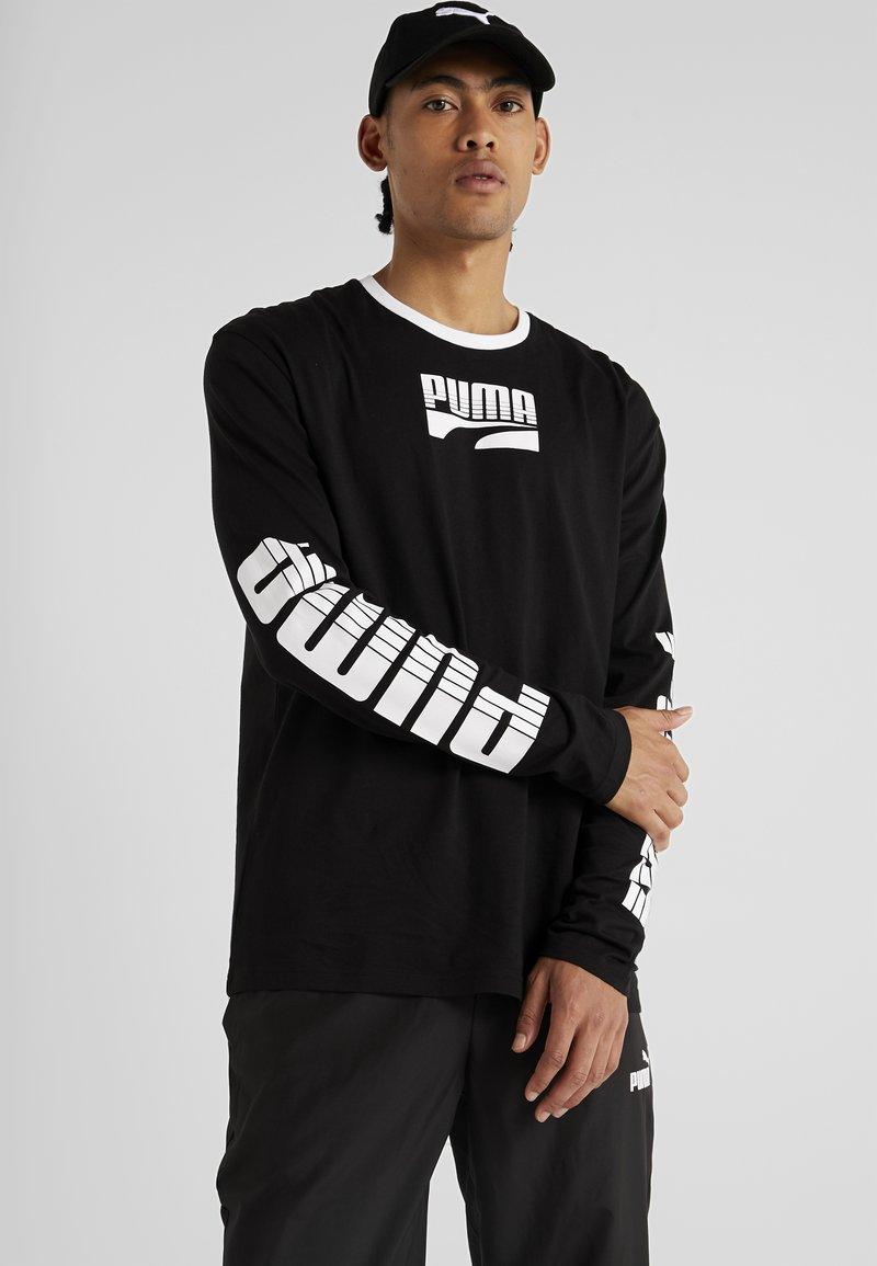Puma - REBEL BOLD TEE - Langarmshirt - black