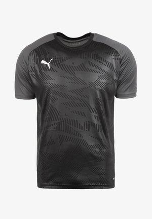 Print T-shirt - puma black / asphalt