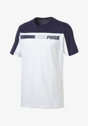 MAND - T-shirt con stampa - white-peacoat