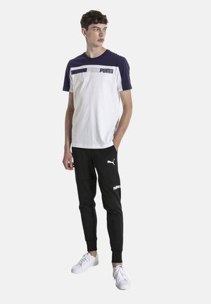 MAND - Print T-shirt - white-peacoat