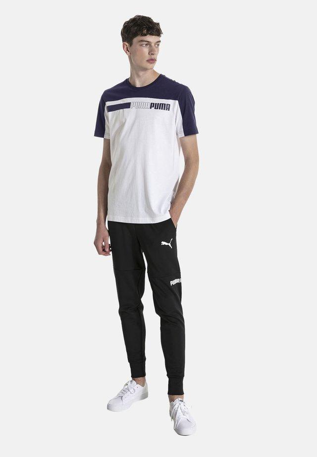 MAND - T-shirt imprimé - white-peacoat