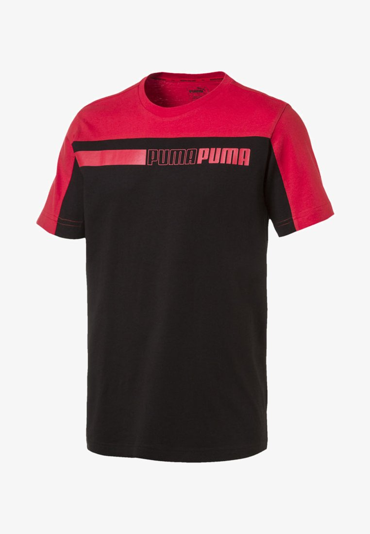Puma - MAND - T-shirt imprimé - cotton black-high risk red