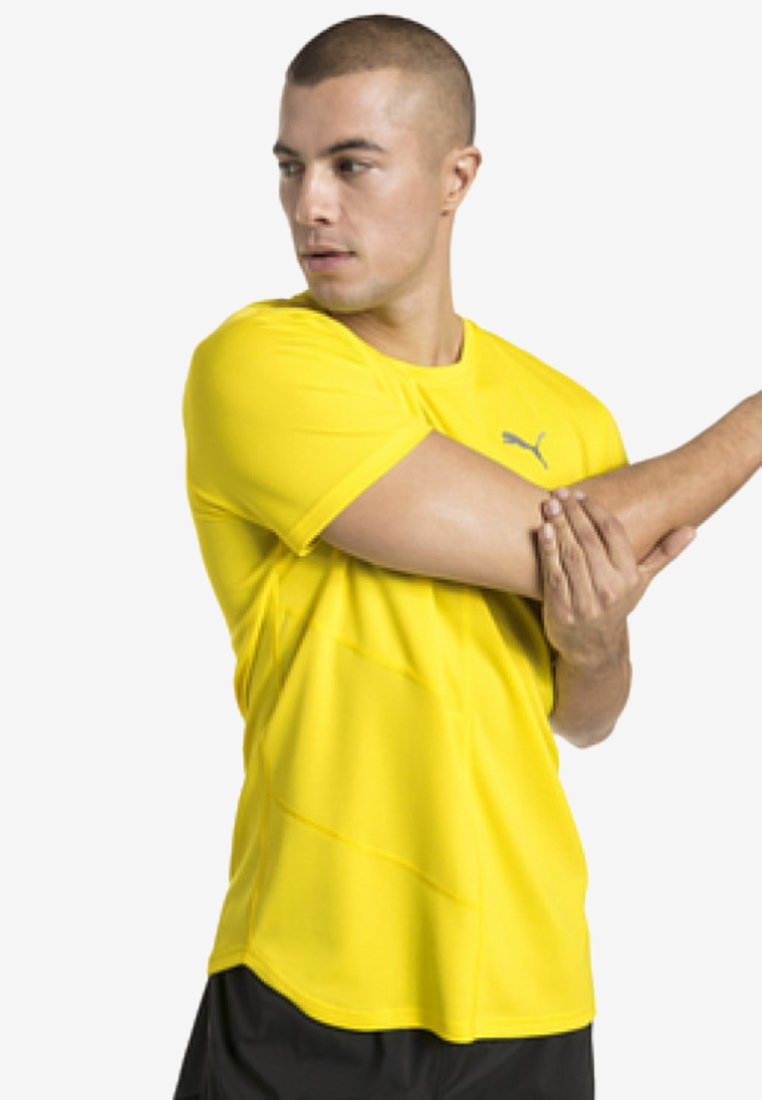 Puma - IGNITE - Print T-shirt - yellow