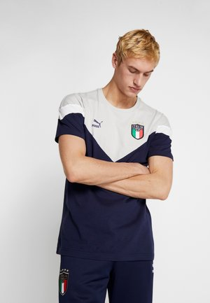 ITALIEN FIGC ICONIC MCS TEE - National team wear - peacoat/gray