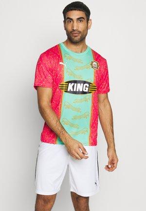 BANGKOK - T-shirt imprimé - raspberry/mint leaf
