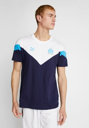 OLYMPIQUE MARSEILLE ICONIC TEE - Article de supporter - peacoat