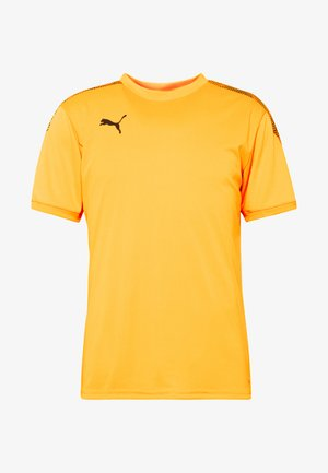 PRO TEE - T-shirt med print - ultra yellow/puma black