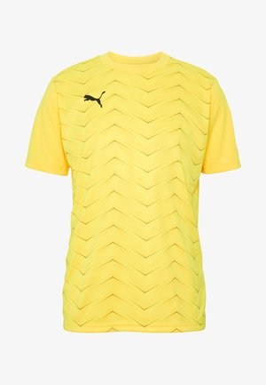 FTBLNXT GRAPHIC CORE - T-shirt med print - ultra yellow/black