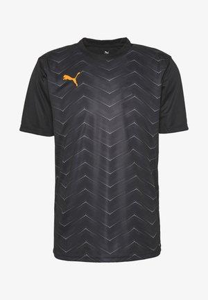 FTBLNXT GRAPHIC CORE - T-shirt z nadrukiem - black/ultra yellow