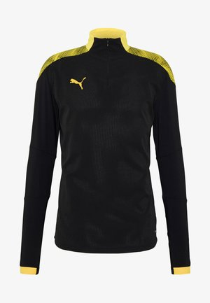 FTBLNXT 1/4 ZIP - Funkční triko - black/ultra yellow