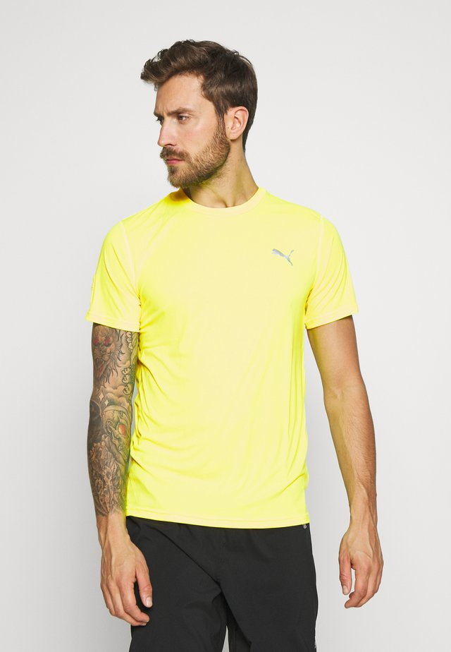 LAST LAP TEE - Basic T-shirt - yellow alert