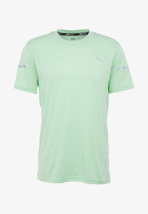 RUNNER ID THERMO R+ - T-shirt con stampa - green glimmer