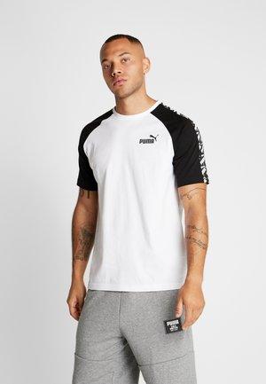 AMPLIFIED RAGLAN TEE - Print T-shirt - white