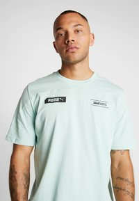 Puma - TEE - T-shirt imprimé - mist green - 4