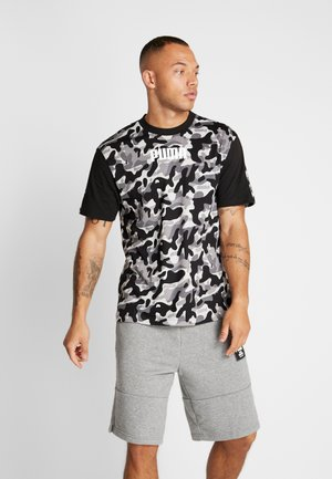 REBEL CAMO TEE - T-shirt imprimé - black
