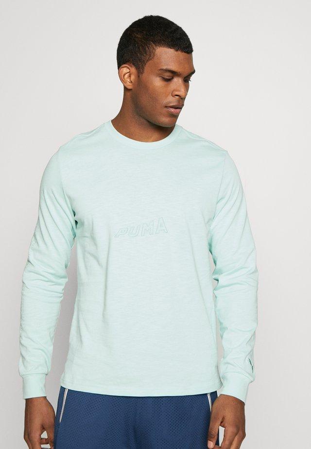 HOOPS BOUNCE TEE - Maglietta a manica lunga - mist green