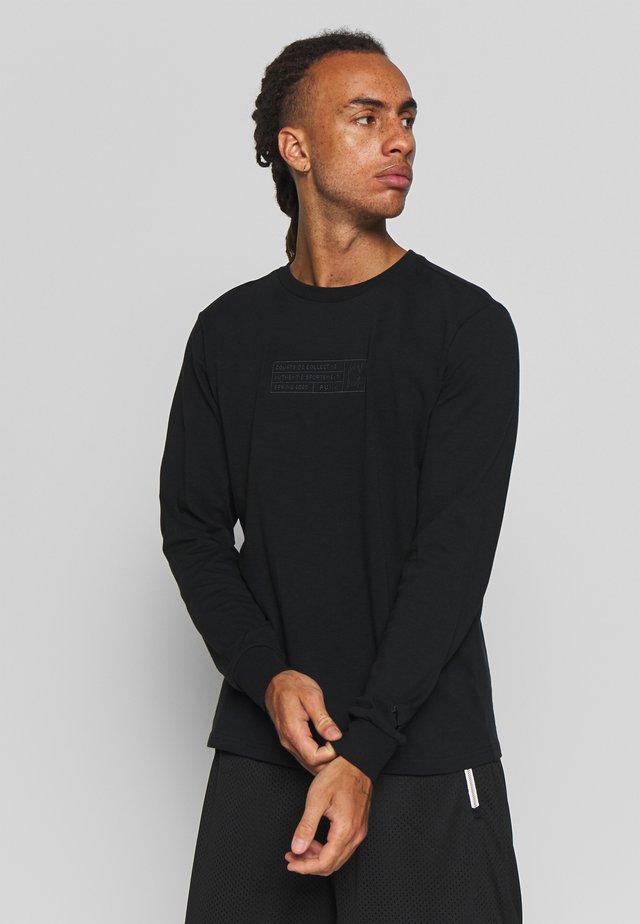 HOOPS BOUNCE TEE - Maglietta a manica lunga - black