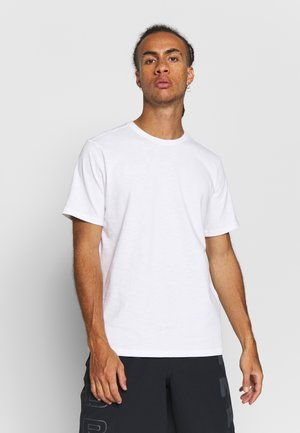 HOOPS TEE - T-shirts med print - white
