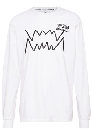 HOOPS PULL UP TEE - Long sleeved top - white