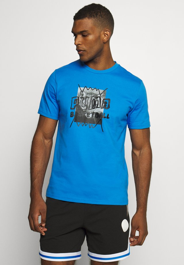 HOOPS STREET TEE - T-shirt z nadrukiem - palace blue