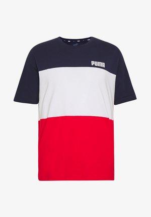 CELEBRATION COLOUR BLOCK TEE - Print T-shirt - peacoat