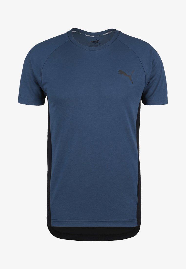 Puma - EVOSTRIPE - Basic T-shirt - dark blue
