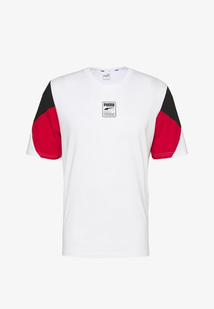 REBEL ADVANCED TEE - T-shirt z nadrukiem - white