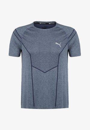 REACTIVE EVOKNIT  - Print T-shirt - dark blue