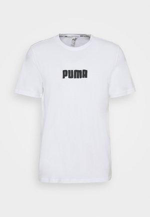 CAT JAWS TEE - Print T-shirt - white