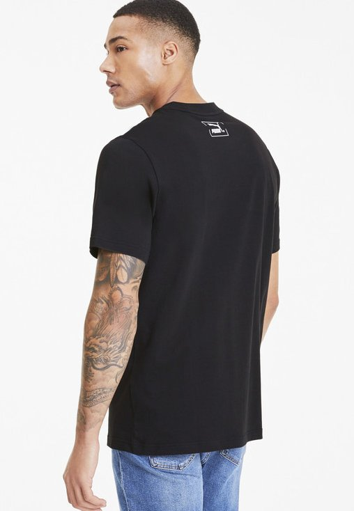 Puma GRAPHIC MEN'S T Shirt print cotton black