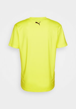 TRAIN GRAPHIC SHORT SLEEVE TEE - Print T-shirt - fizzy yellow