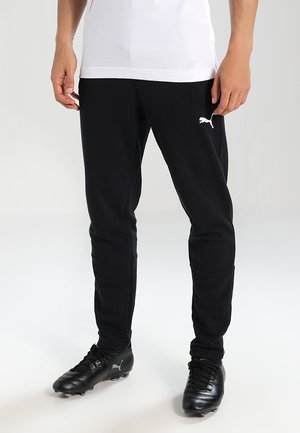 LIGA CASUALS PANTS - Verryttelyhousut - black/white