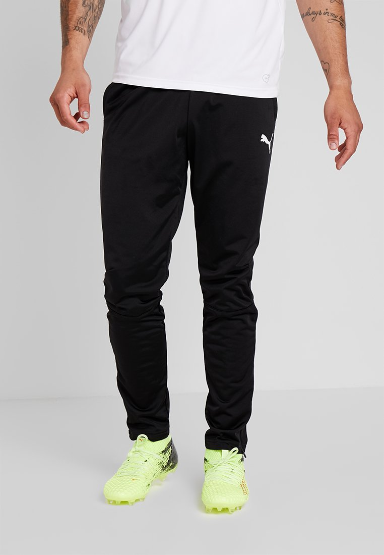 Puma - LIGA TRAINING PANTS - Träningsbyxor - black/white