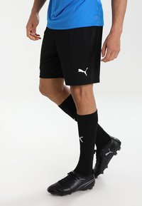 Puma - LIGA TRAINING SHORTS CORE - Pantalón corto de deporte - black/white - 0