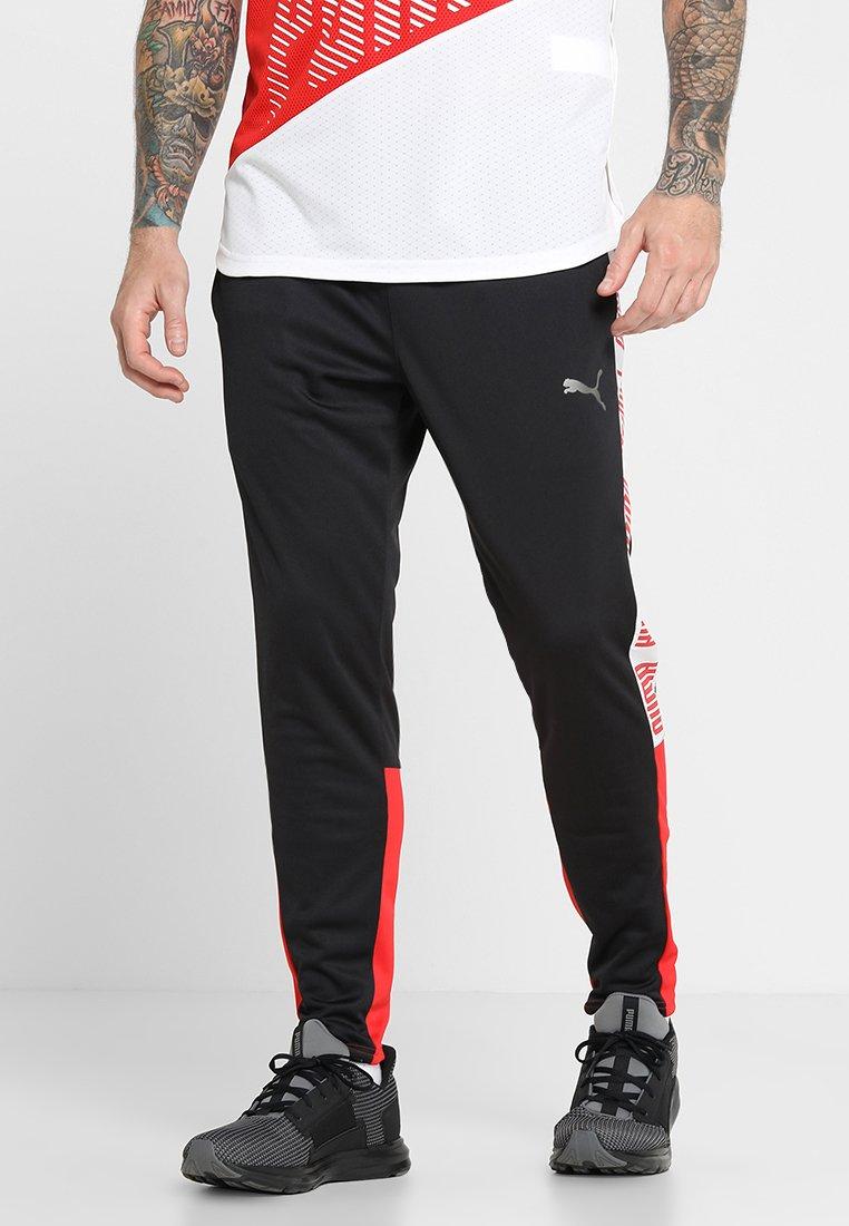 Puma - TRACK PANT  - Pantaloni sportivi - black/high risk red/white