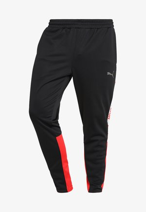 TRACK PANT  - Pantaloni sportivi - black/high risk red/white