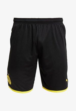 BVB BORUSSIA DORTMUND SHORTS REPLICA - Krótkie spodenki sportowe - black/cyber yellow